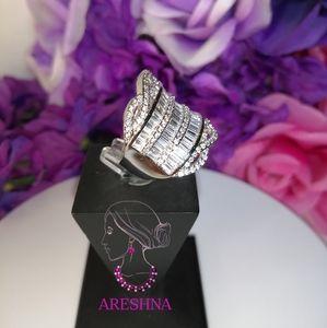 Areshna Jewelry - Hyperbole Swarovski Crystals Luxury Cocktail Ring